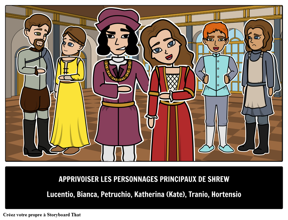 Les Personnages Principaux de Taming of the Shrew