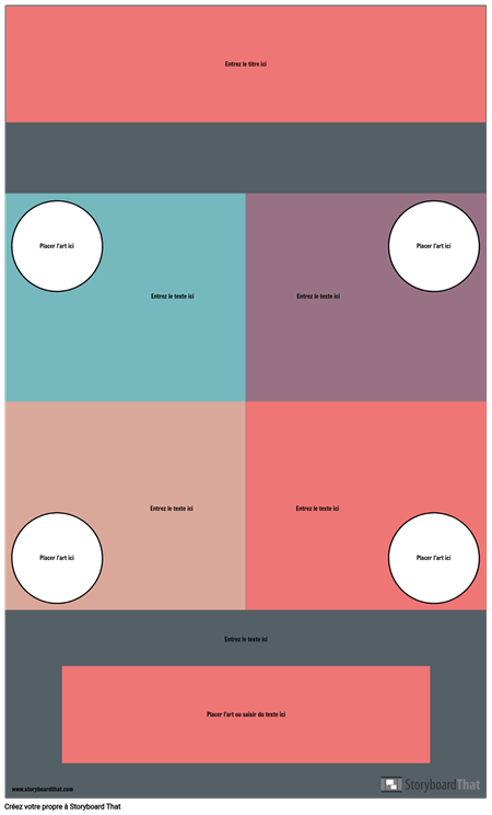 Modèle D'infographie de Bloc