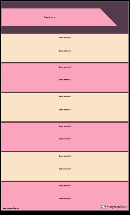 Modèle D'infographie de Sections de Bloc