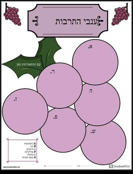 תבנית, ענבים ארגונית גרפית בצורת ענבים