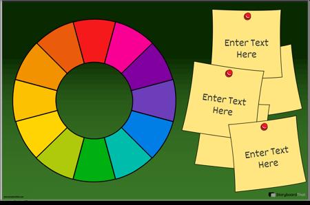 תבנית פוסטר של גלגל הצבעים