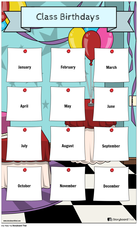לוח שנה ליום הולדת לכיתה