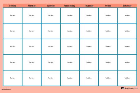 פוסטר חודש לוח שנה 1