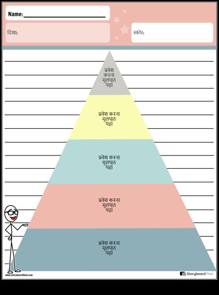 ग्राफिक आयोजक पिरामिड