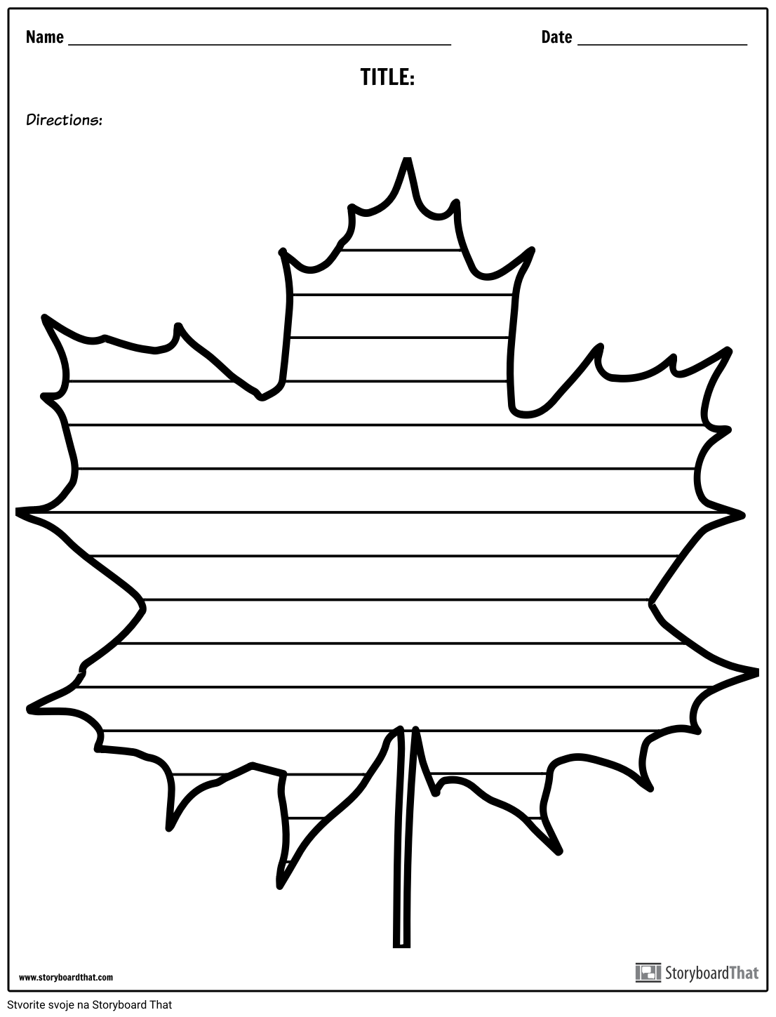 Kreativno Pisanje - Maple Leaf