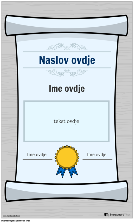 Plakat Diplome 1