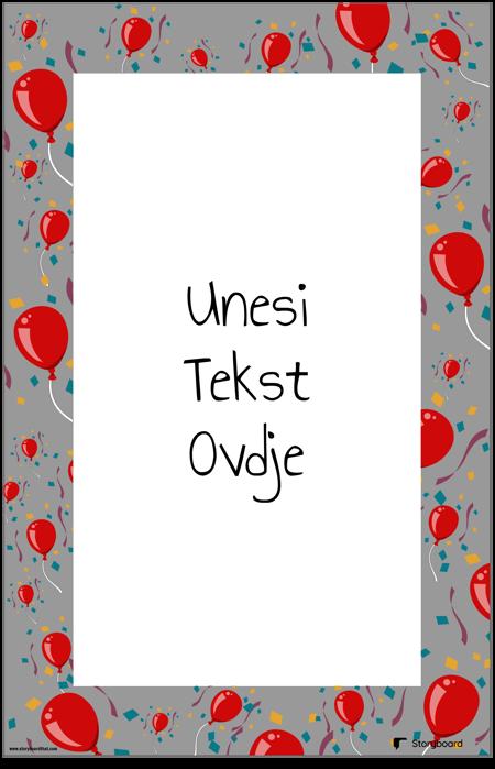 Plakat za Ukrašavanje Balona