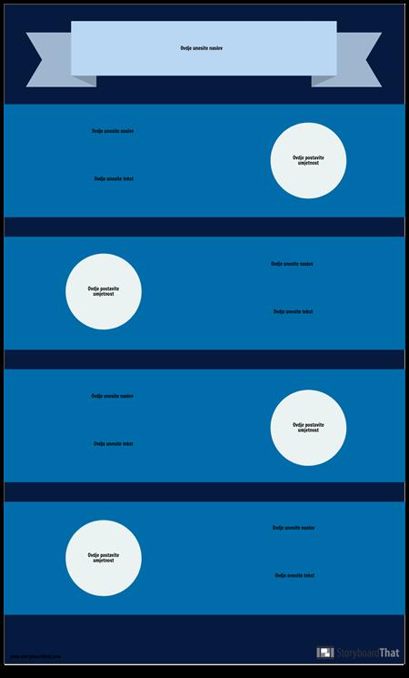 Plavi Predložak Infografike