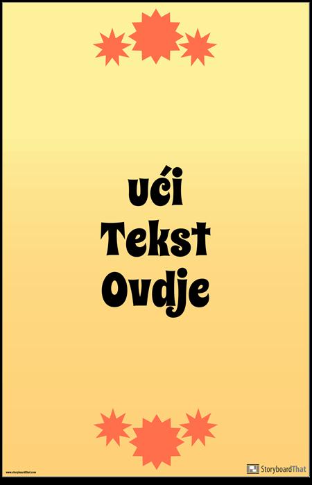 Poster s Vertikalnim Citatom