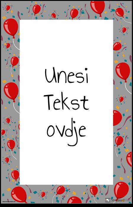 Poster za Ukrašavanje Balona