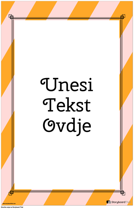 Prugasti Vertikalni Citatni Plakat