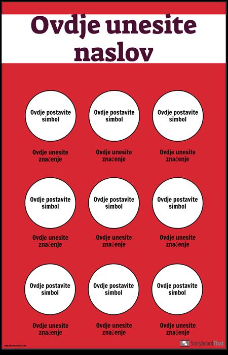Sigurnosni Simboli Poster