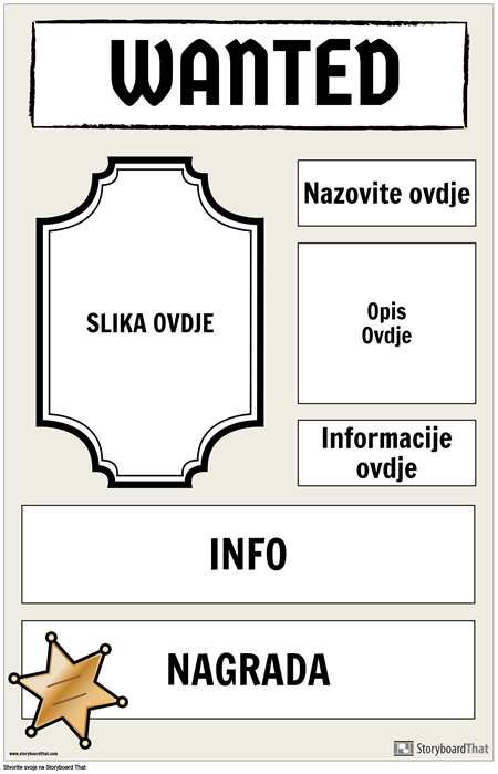 Traženi Plakat 2