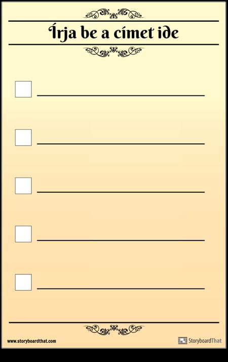 Alapvető 5 Ellenőrzőlista