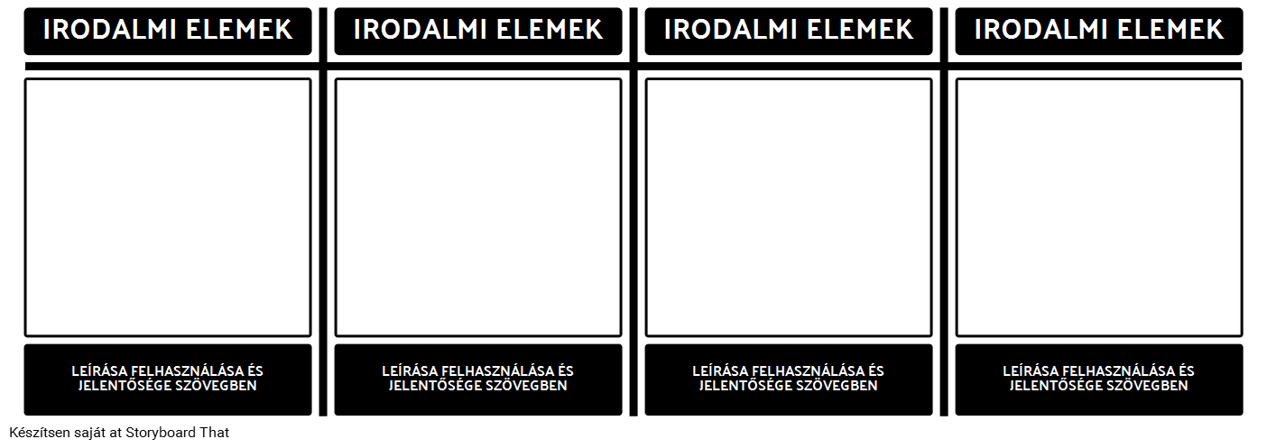 Irodalmi Elements T-diagram
