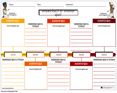 Colore dei Quadrati del Foglio di Lavoro Della Cronologia Degli Studi Socia