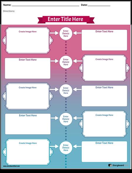 Colore del Foglio di Lavoro Della Cronologia Degli Studi Sociali