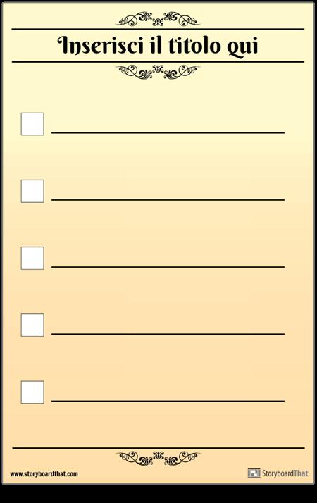 Elenco di Controllo di Base 5 Check