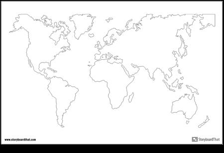 Mappa del Mondo Poster