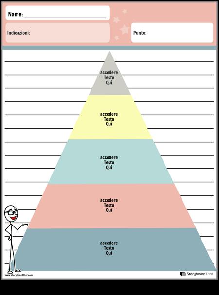 Piramide Dell'organizzatore Grafico