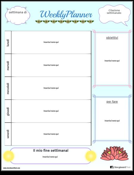 Planner Settimanale 1 Ritratto