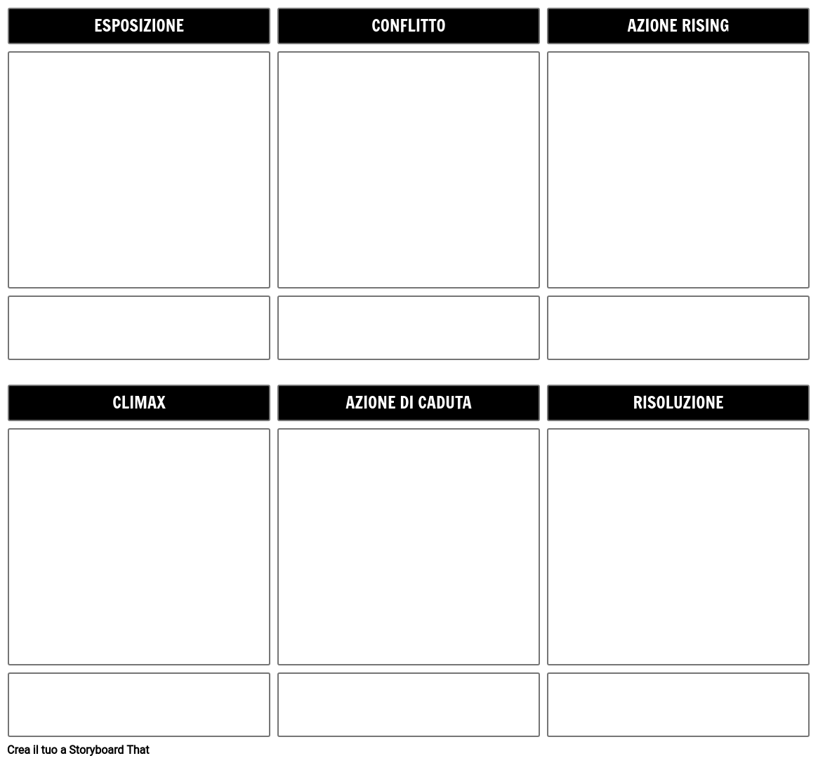 Story Storyline Template Storyboard
