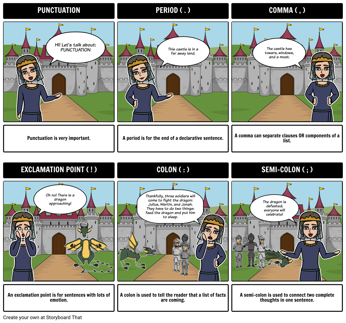Teaching Punctuation with StoryboardThat