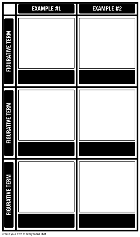 Figurative Language Template Multiple Examples