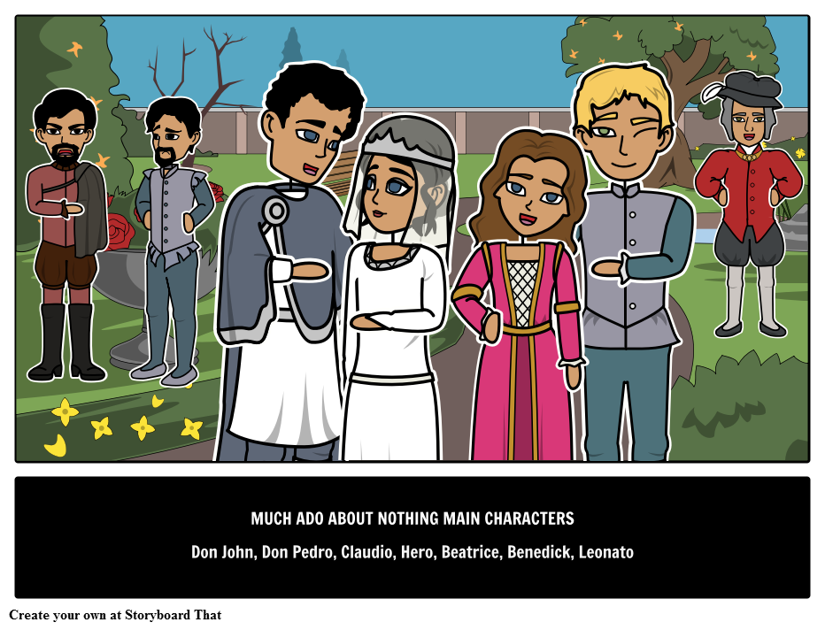 Much Ado About Nothing Main Characters
