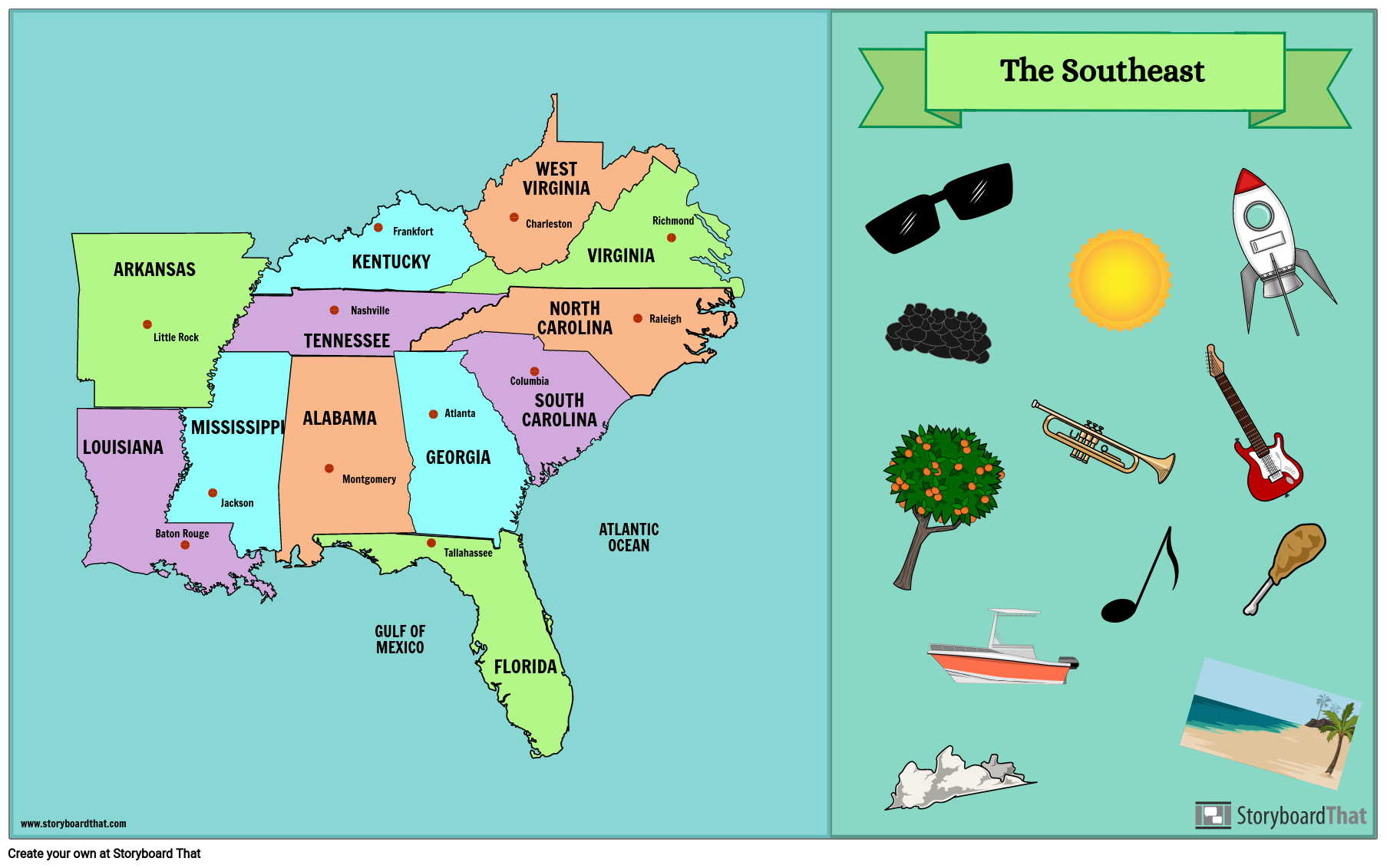 Southeast States Map