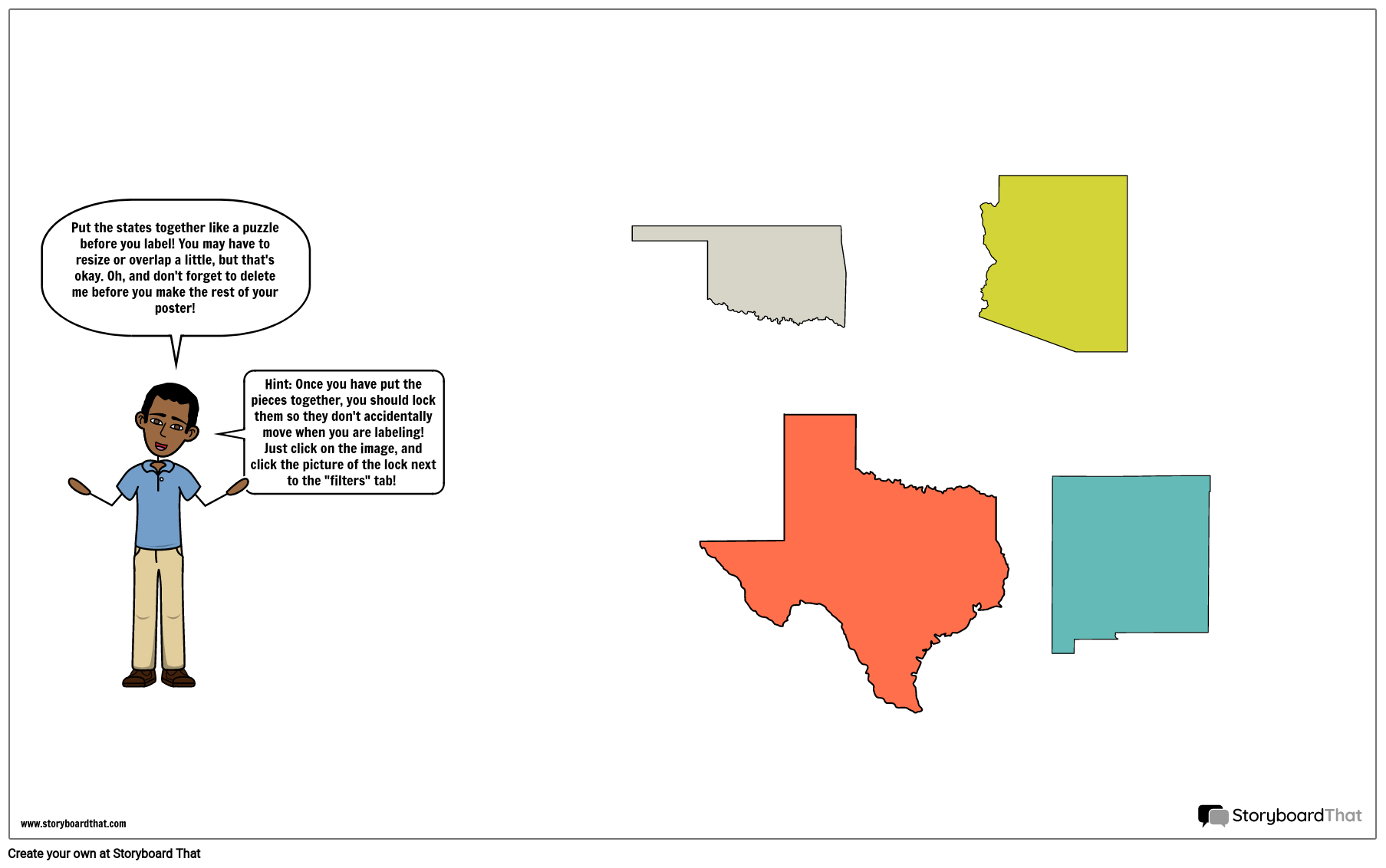Southwest Map Template