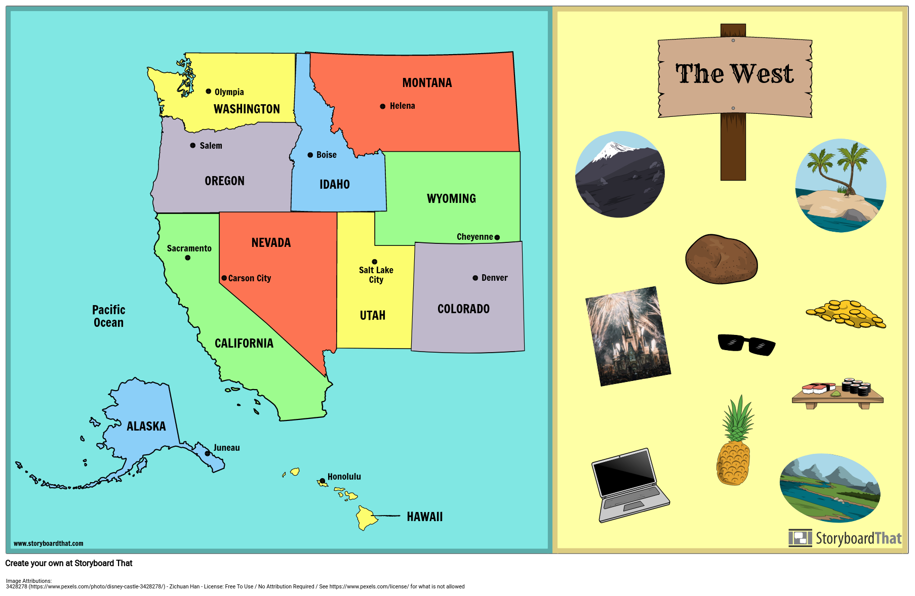 West States and Capitals
