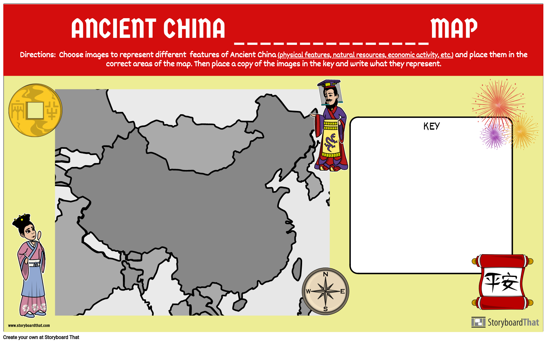 Ancient China Make Your Own Map