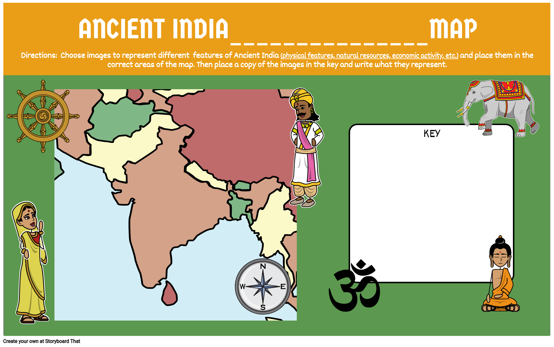 Ancient India Make Your Own Map