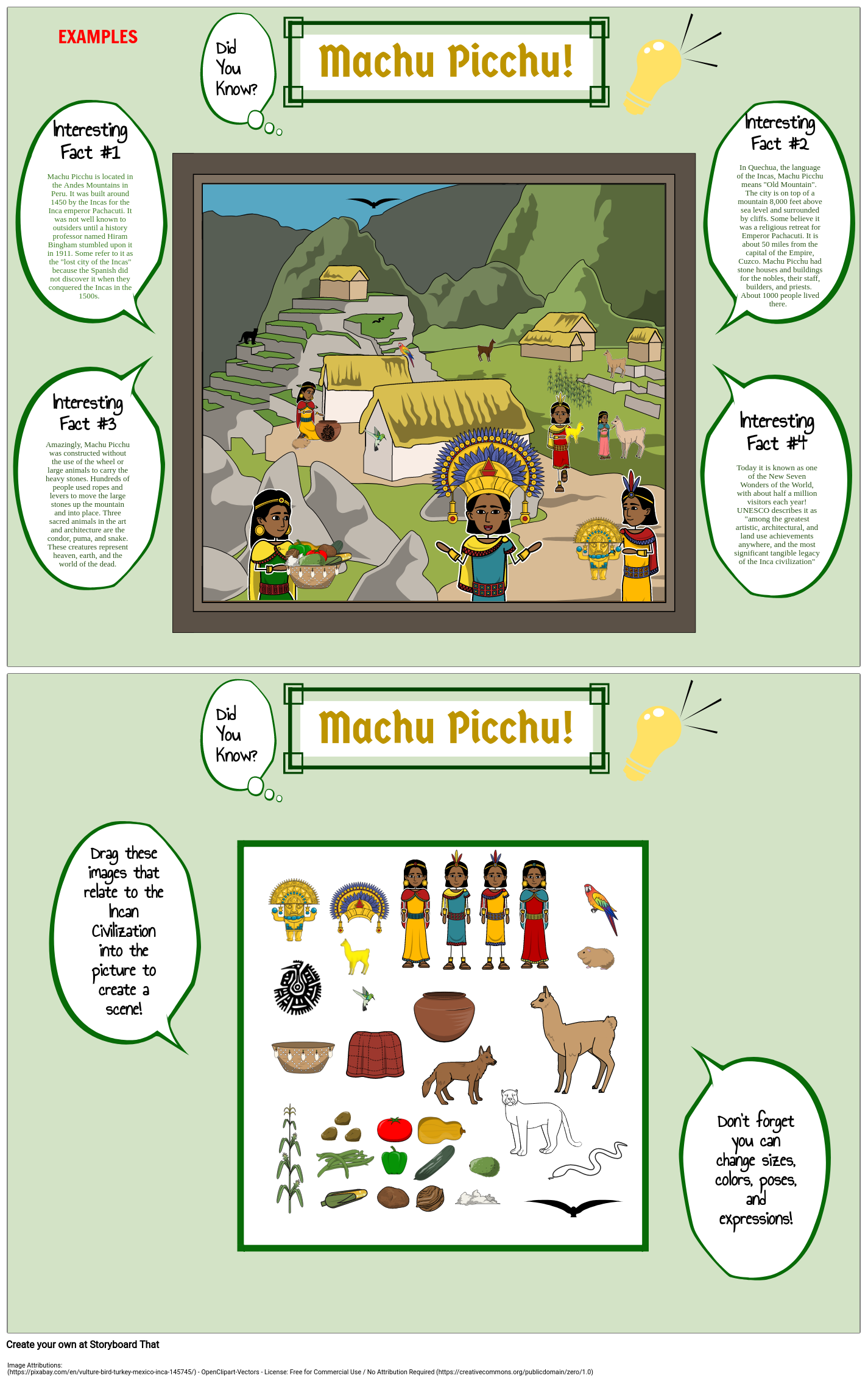 Inca: Did You Know? Poster - Machu Picchu