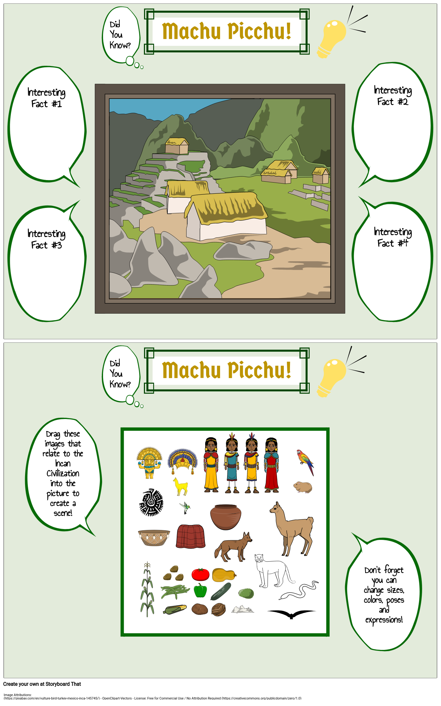 Inca: Did You Know? Template - Machu Picchu