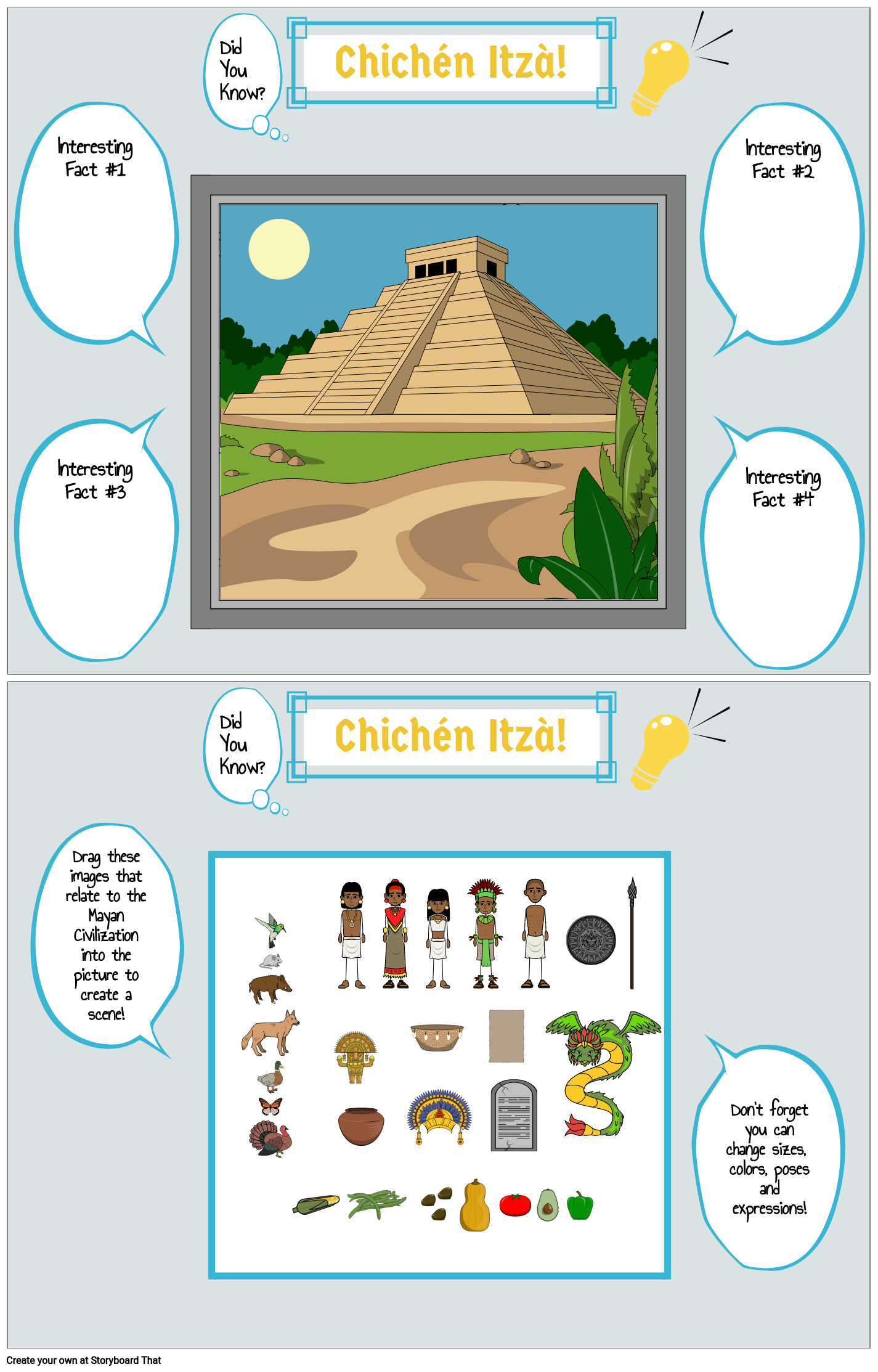 Maya: Did You Know? Poster - Chichen-Itza