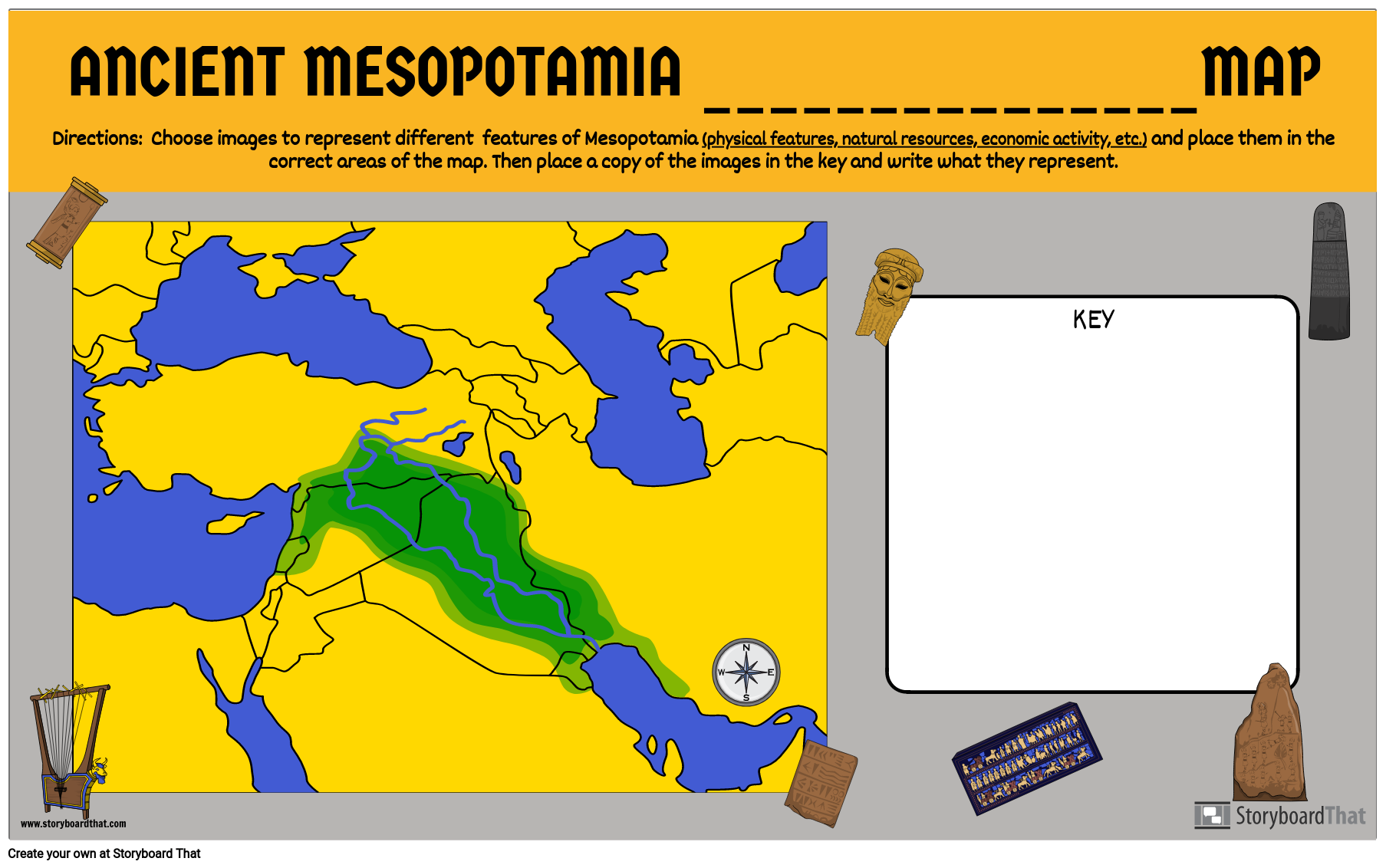 Mesopotamia Fill in the Blank Map