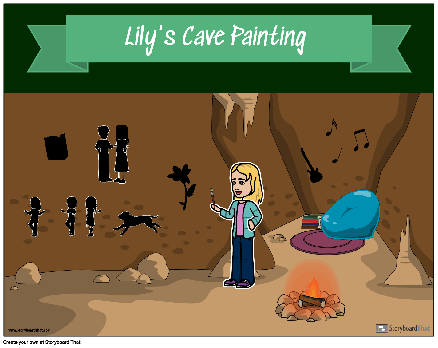 Early Humans: My Own Cave Painting Example by Lily Rose
