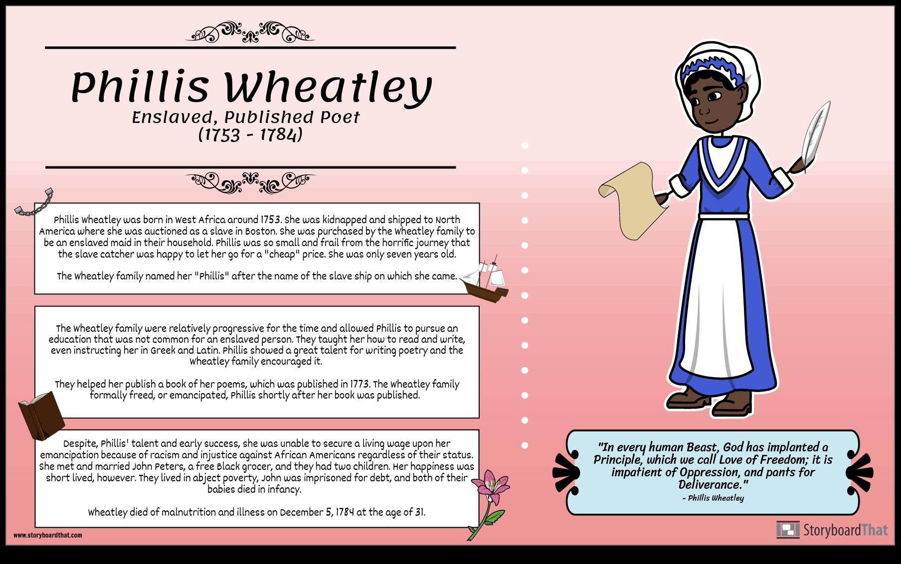 Slavery: Phillis Wheatley