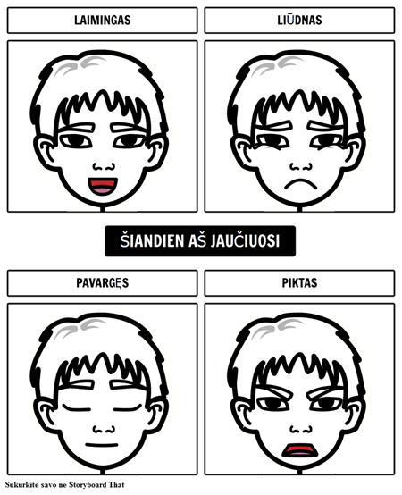 Jausmai diagrama 1