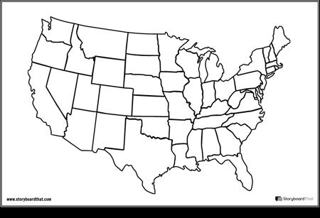 Jungtinių Valstijų Žemėlapis