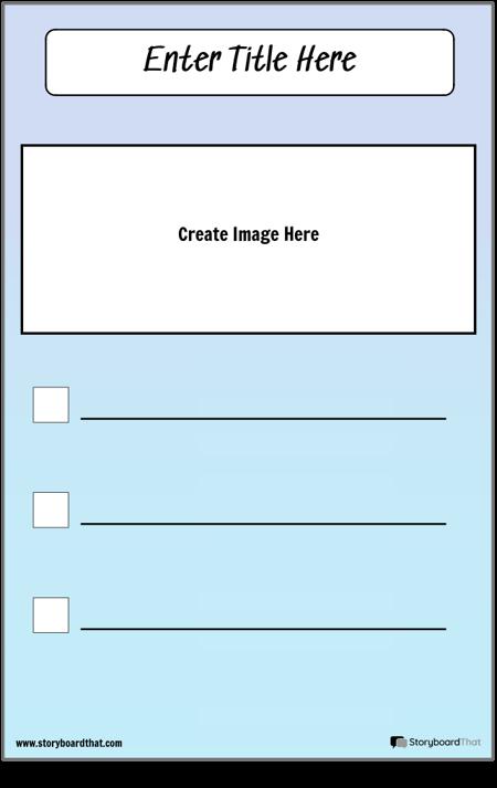 Kontrolinis sąrašas su paveikslėliu
