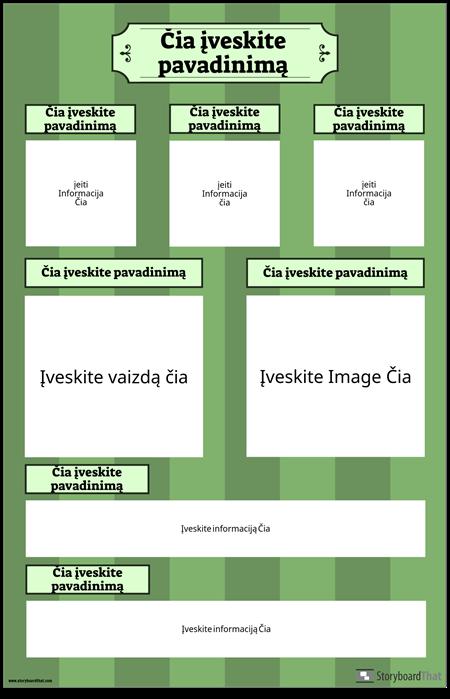 Mokslo Mugės Plakatas Vertikalus