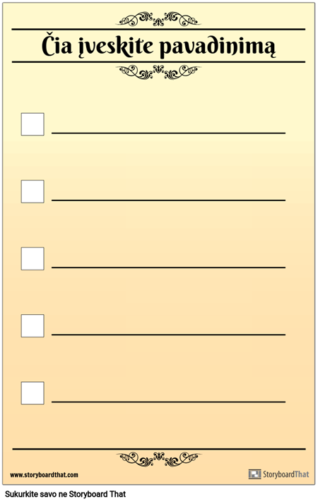 Pagrindinis 5 Kontrolinis Sąrašas