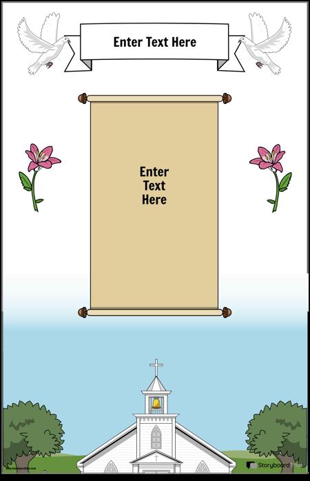 Kristiešu plakāts ar ritināšanu