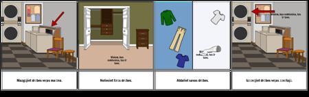 Pirmais ... Pēdējais Piemērs - Apģērbu Mazgāšana