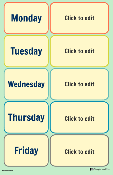 Skolas Nedēļas Kalendāra Plakāts 1