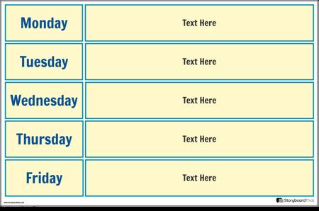 Skolas Nedēļas Kalendāra Plakāts 2