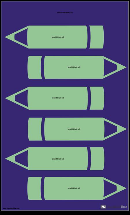 Zīmuļu Infografikas Veidne